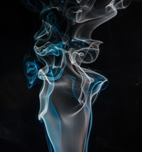 blue and gray smoke